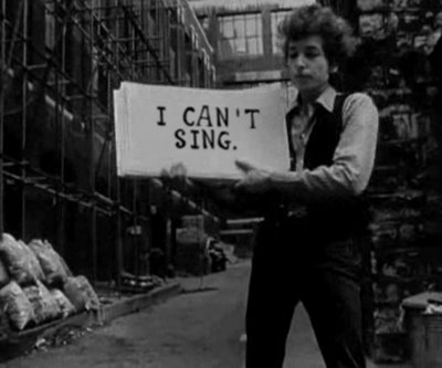 bob dylan i cant sing